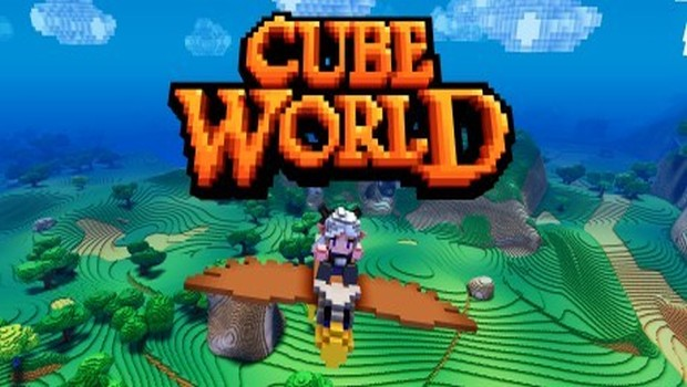 Cube World official artwork with logo