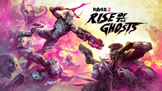 Rage 2 official artwork and logo for the Rise of the Ghosts expansion