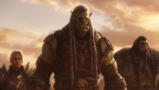 World of Warcraft Update 8.2.5 screenshot of Thrall, Anduin and Saurfang