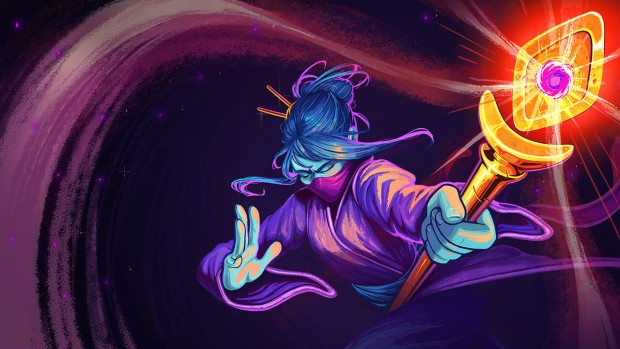 Slay the Spire official artwork for The Watcher character