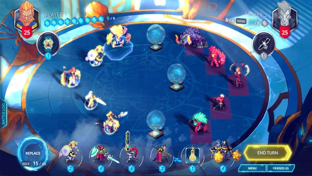 Duelyst screenshot of the gameplay from the original version