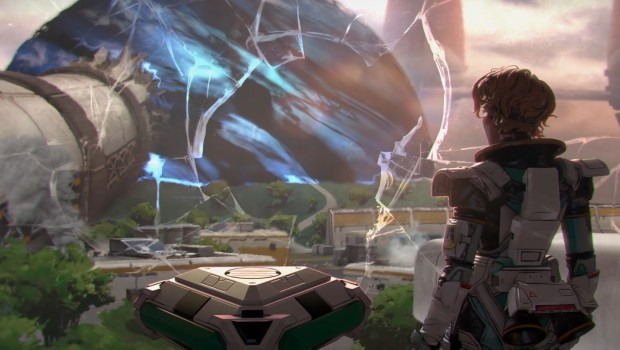Apex Legends artwork showing off Horizon and the new map Olympus