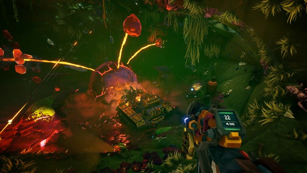 Deep Rock Galactic screenshot of the new Drilldozer mission