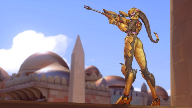 Overwatch screenshot of Widowmaker's Scorpion skin