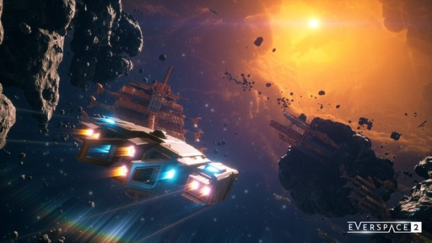 Everspace 2 screenshot of a ship and a whole lot of space