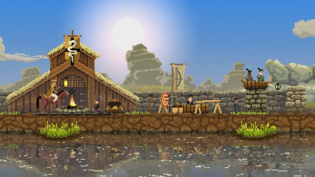 Screenshot of a small village in Kingdom: Classic