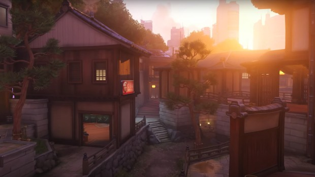 Overwatch screenshot of the Kanezaka map