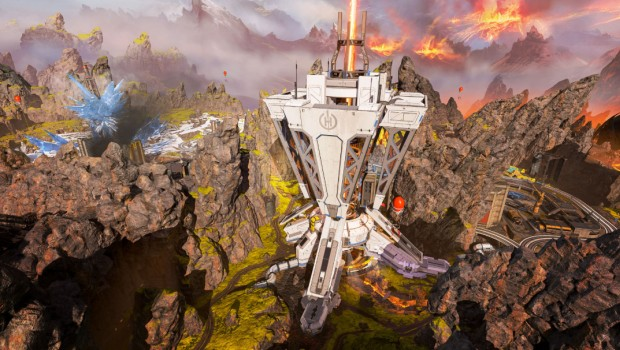 Apex Legends screenshot showing off the new Planet Harvester location
