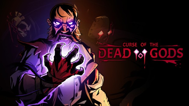 Curse of the Dead Gods official artwork with logo on the right