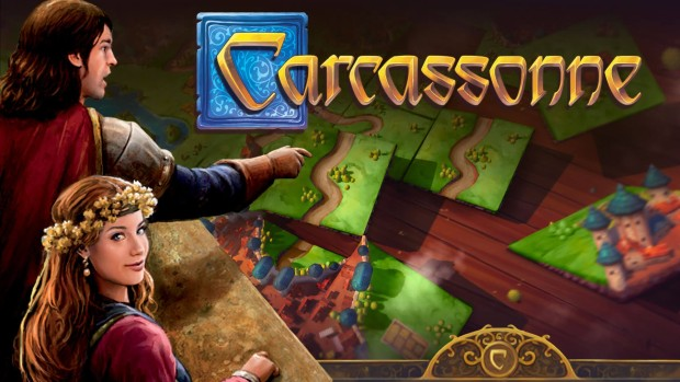 Official artwork and logo for the digital board game Carcassonne