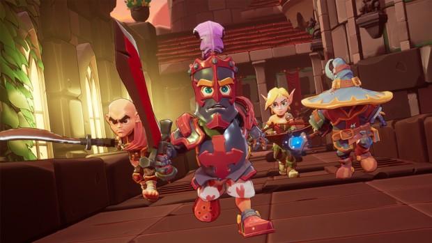 Dungeon Defenders Awakened screenshot of the four playable characters