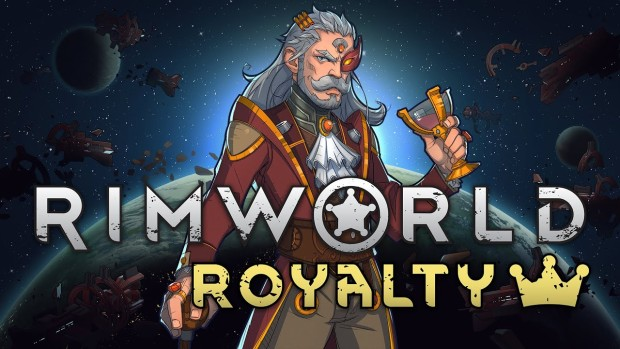 RimWorld artwork and logo for the Royalty expansion
