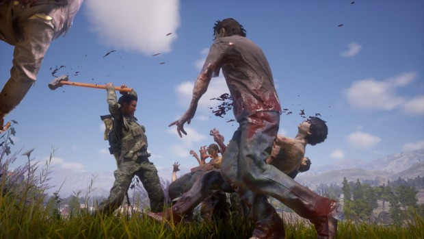 State of Decay 2 screenshot of the player using a melee heavy weapon