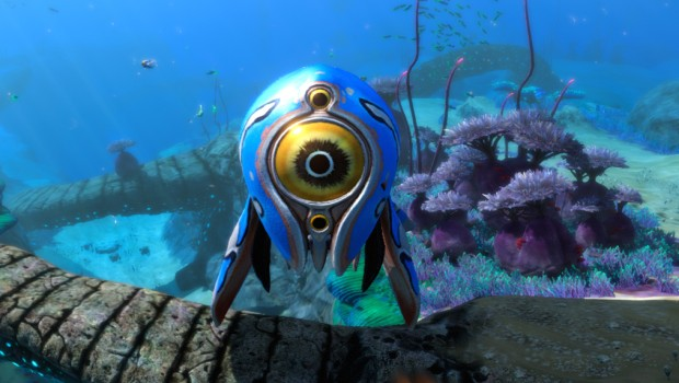 Subnautica: Below Zero screenshot of the cute Trivalve fish