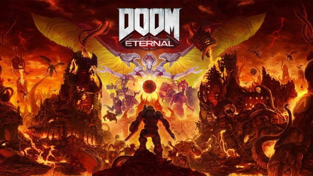 Doom Eternal official artwork and logo
