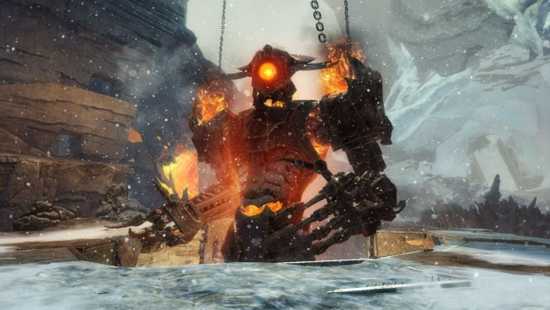 Guild Wars 2 Visions of the Past update screenshot of a golem