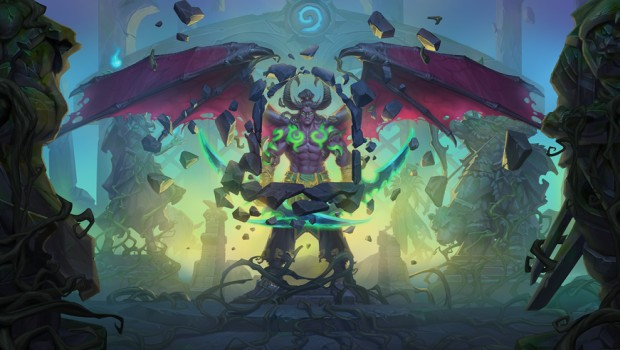 Hearthstone's artwork for Illidan from the cinematic trailer