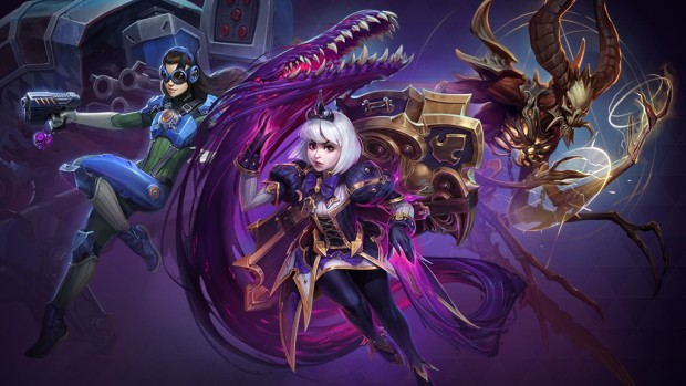 Heroes of the Storm artwork showing off three distinct characters