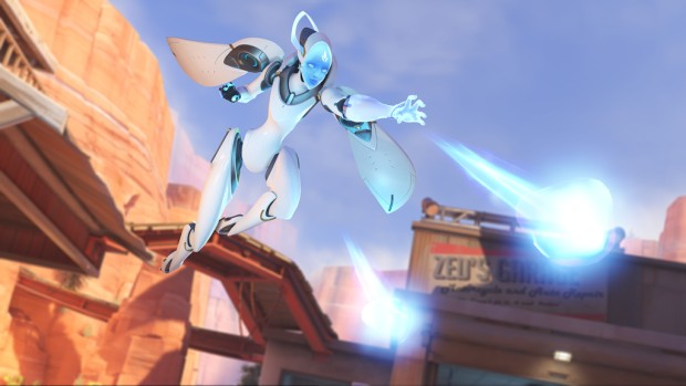 Overwatch screenshot of Echo using her right click