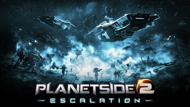 Planetside 2 official artwork for the Escalation update