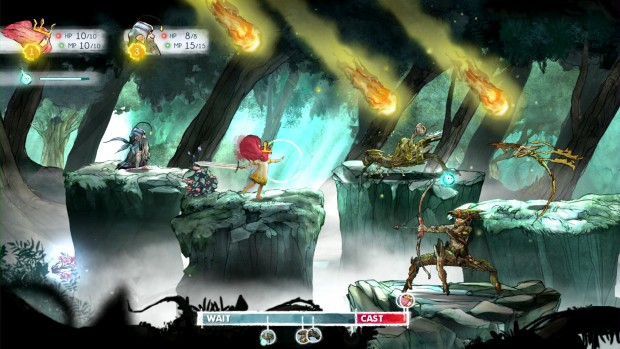 Ubisoft screenshot of the combat from Child of Light