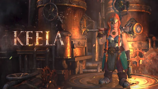 Warhammer: Chaosbane screenshot of the Dwarf Engineer Keela
