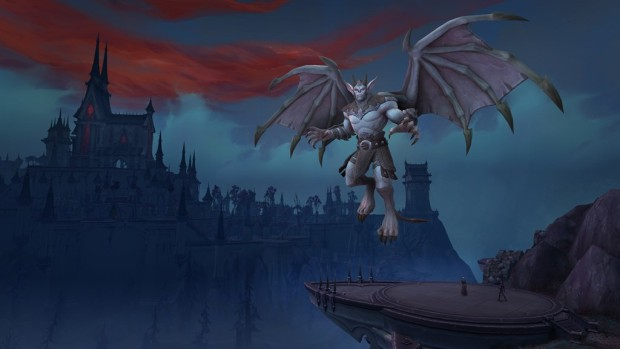 World of Warcraft: Shadowlands expansion screenshot of Revendreth and a vampire