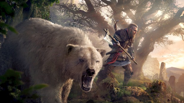 Assassin's Creed Valhalla screenshot of the bear you can have as a companion