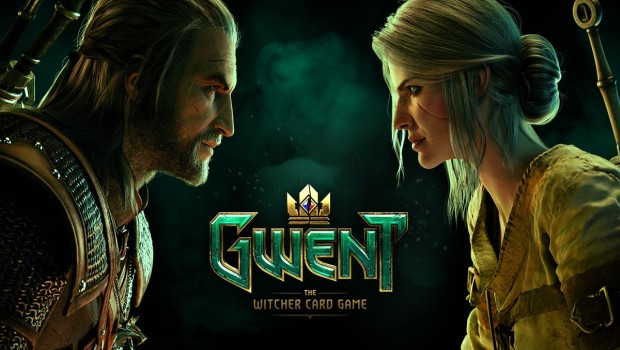 Gwent artwork showing both Geralt and Ciri