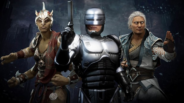 Mortal Kombat 11 screenshot of Fujin, Robo Cop and Sheeva