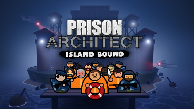 Prison Architect artwork and logo for the Island Bound expansion