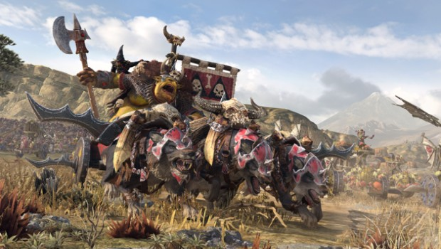 Total War: Warhammer 2 screenshot of Grom the Paunch on his chariot