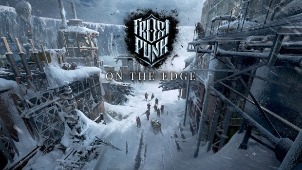 Frostpunk official artwork and logo for the On The Edge expansion