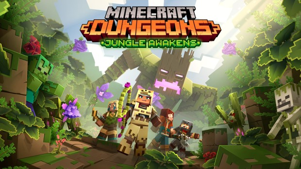Minecraft: Dungeons official artwork for the Jungle Awakens expansion