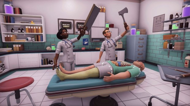 Surgeon Simulator 2 screenshot of the wacky multiplayer mode