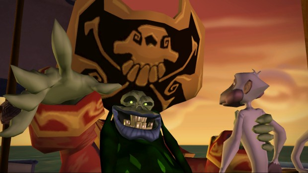 Telltale's Tales of Monkey Island screenshot of the pirate LeChuck