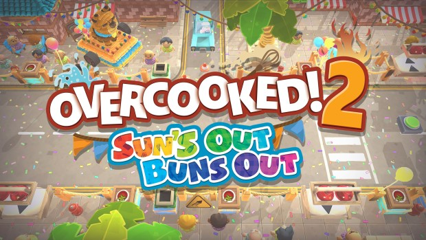 Overcooked! 2's Sun's Out, Buns Out update artwork and logo