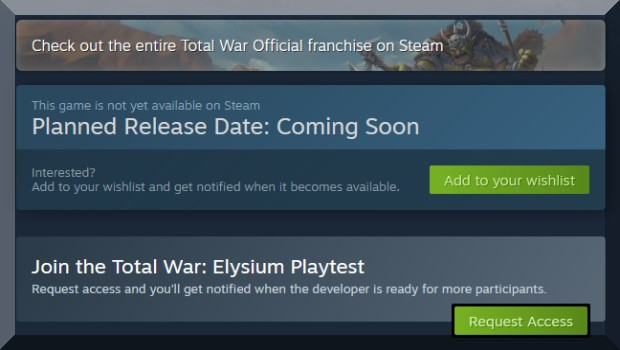 Screenshot of Steam's new beta access tools