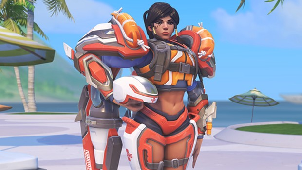 Overwatch Lifeguard Pharah cosmetic