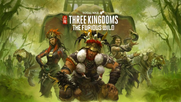 Total War: Three Kingdom's The Furious Wild DLC official artwork and logo