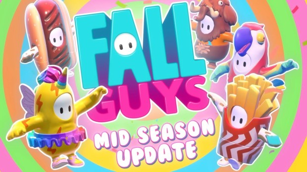 Fall Guys artwork showing off the Season 1 mid-season update