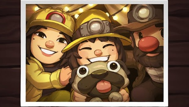 Spelunky 2 artwork showing off a family photo