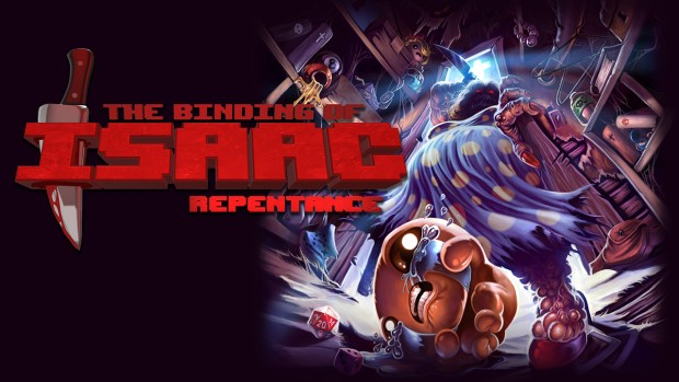 The Binding of Isaac: Repentance official artwork and logo