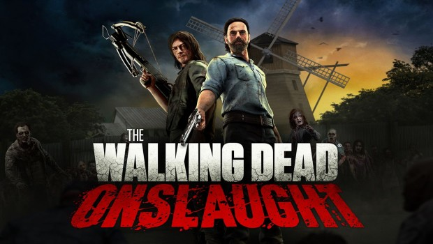The Walking Dead Onslaught official artwork and logo