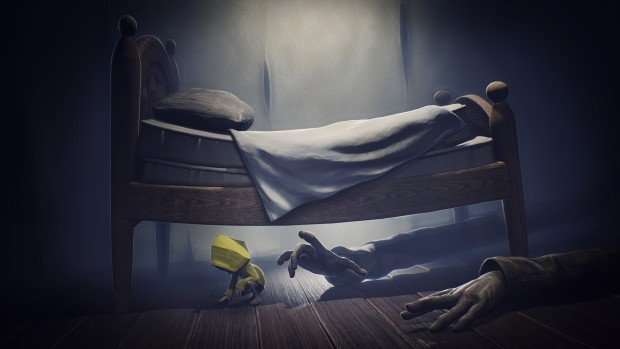 Little Nightmares screenshot of hands grasping at the main character