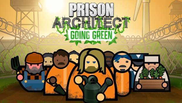 Prison Architect Going Green expansion artwork and logo